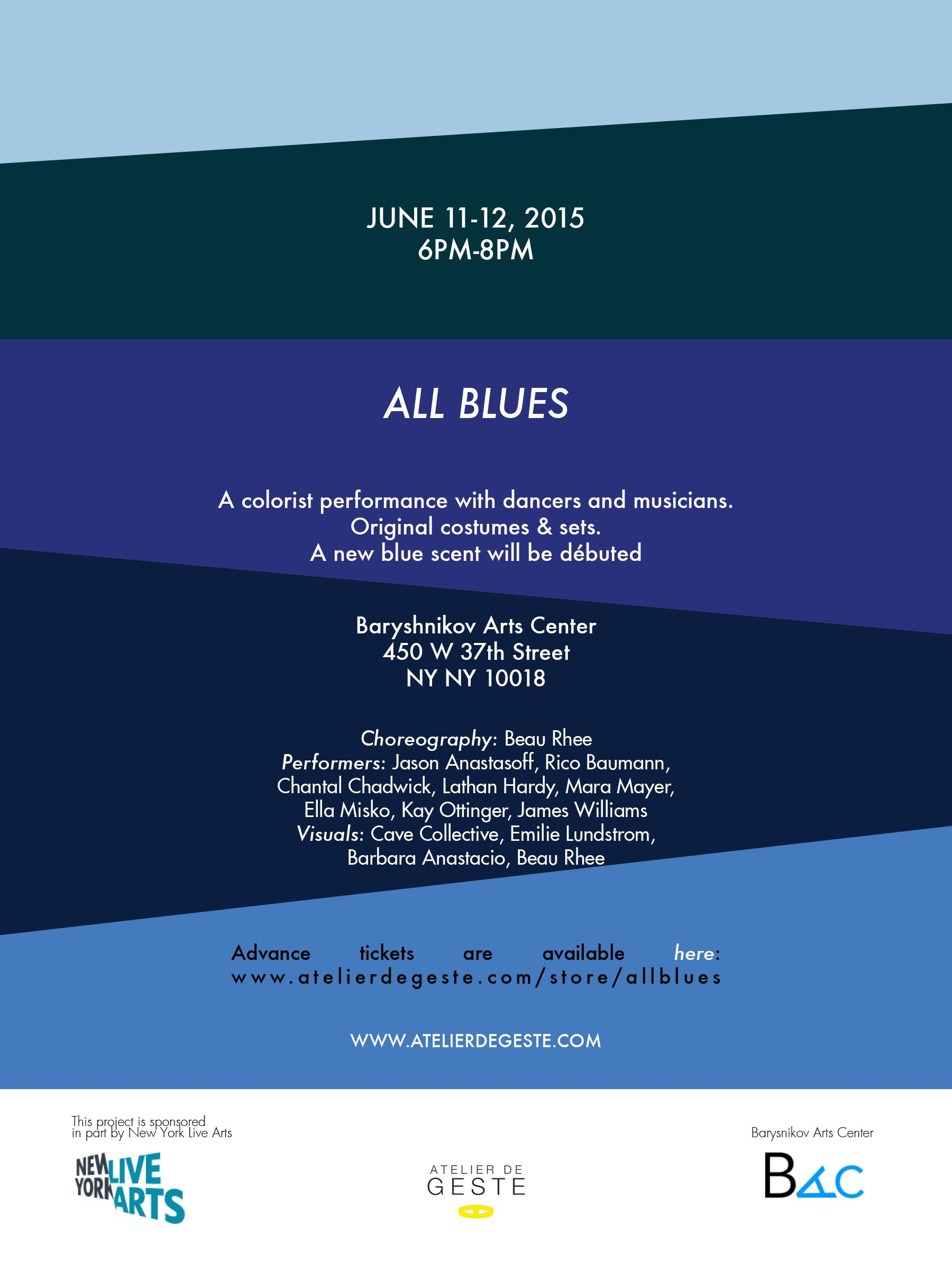 ALL BLUES - A colorist performance  | Events Calendar
