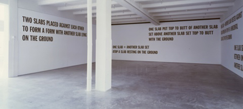 Howie Chen on Lawrence Weiner  | Events Calendar