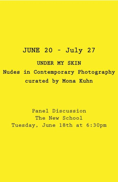 UNDER MY SKIN Nudes in Contemporary Photography | Events Calendar