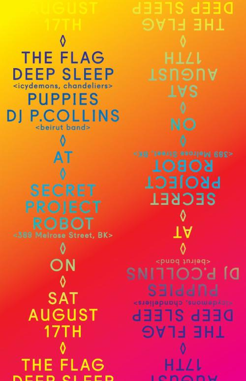 THE FLAG, Deep Sleep (icydemons), Puppies, D.J. Paul Collins (beirut band)   | Events Calendar
