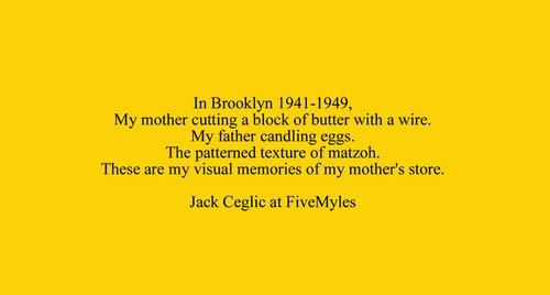 Jack Ceglic My Mother's Store