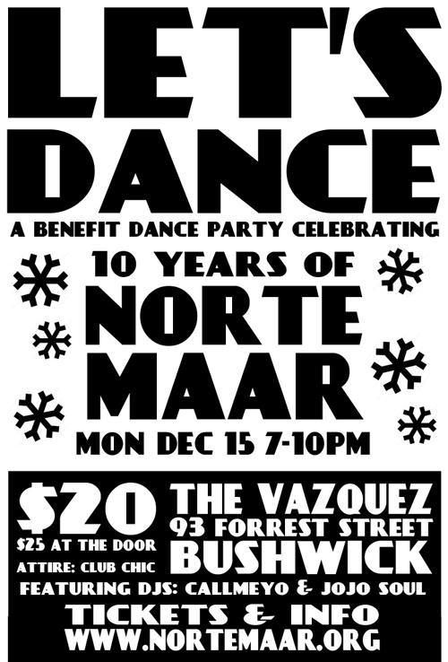 Let's Dance! A benefit dance party celebrating 10 years of Norte Maar | Events Calendar