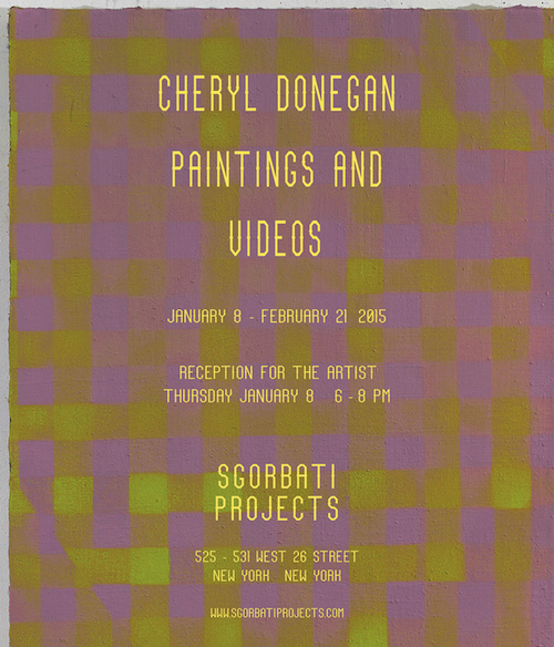 Cheryl Donegan Paintings and Videos | Events Calendar