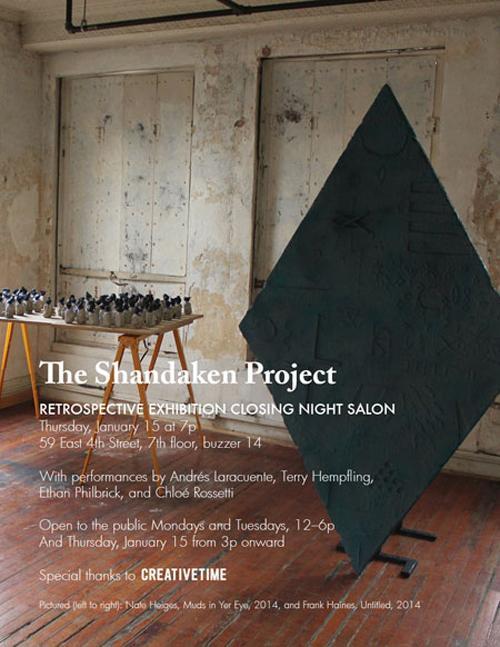 Shandaken Project Retrospective Exhibition Closing night salon    Events Calendar