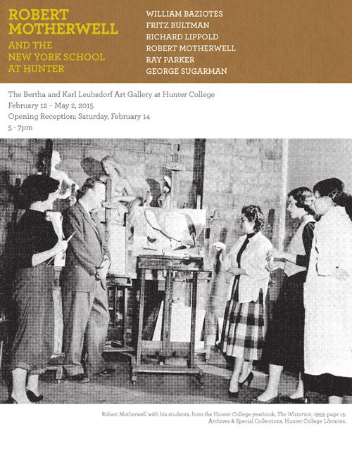 Robert Motherwell and the New York School at Hunter  | Events Calendar