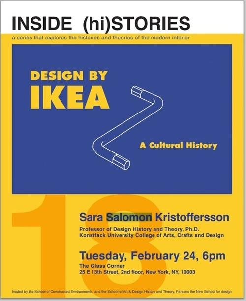 Design by IKEA: A Cultural History INSIDE (hi) STORIES Lecture Series | Events Calendar