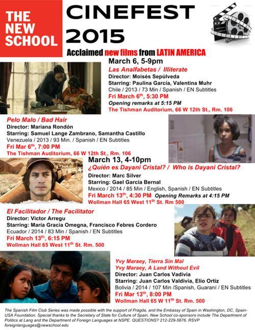 CINEFEST 2015: Hispanic Film Festival  | Events Calendar
