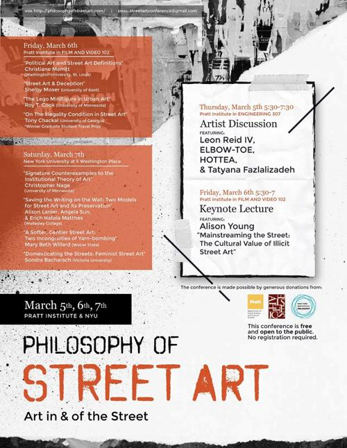 Artist Panel with Audience Q&A Philosophy of Street Art: Art in and of the Street | Events Calendar
