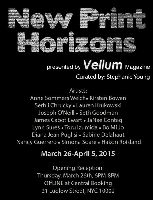 New Print Horizons Presented by Vellum Projects | Events Calendar