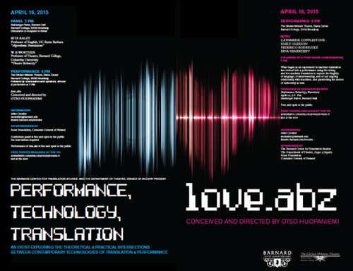 Performance, Technology, Translation  | Events Calendar