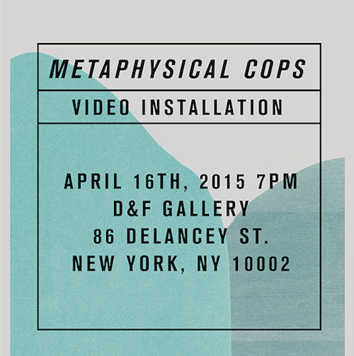 Collapsing Scenery: Metaphysical Cops  | Events Calendar