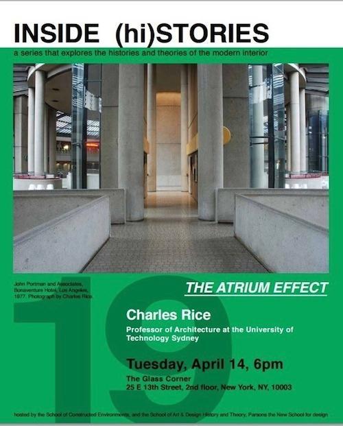 The Atrium Effect INSIDE (hi) STORIES Lecture Series | Events Calendar