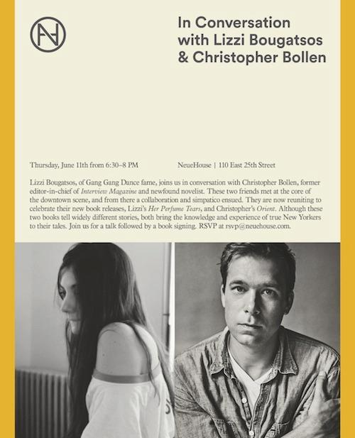 In Conversation with Lizzi Bougatsos and Christopher Bollen  | Events Calendar