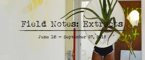 Field Notes: Extracts  | Events Calendar