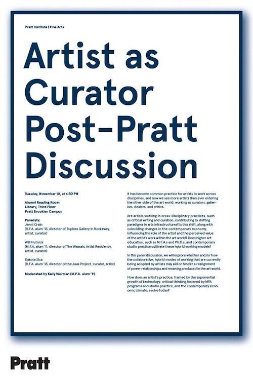 Artist as Curator Post-Pratt Panel Discussion    Events Calendar