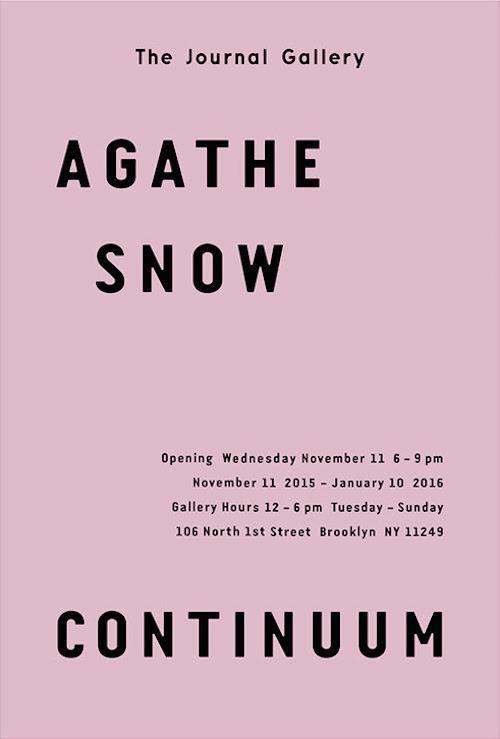 Closing Party for Agathe Snow Continuum  | Events Calendar