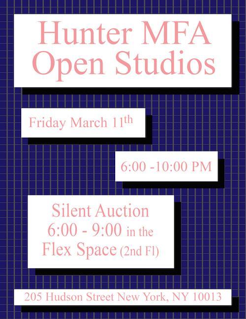 Hunter MFA Open Studios    Events Calendar