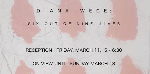 Diana Wege SIX OUT OF NINE LIVES   Events Calendar