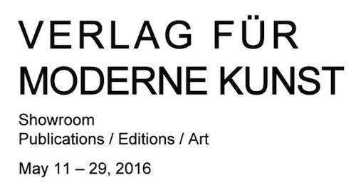 VERLAG FÜR MODERNE KUNST VfmK SHOWROOM Publications / Editions / Art | Events Calendar
