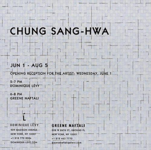 CHUNG SANG-HWA  | Events Calendar