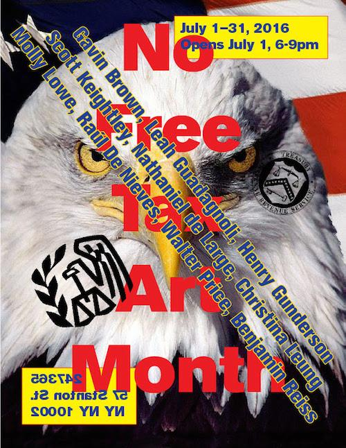 No Free Tax Art Month  | Events Calendar