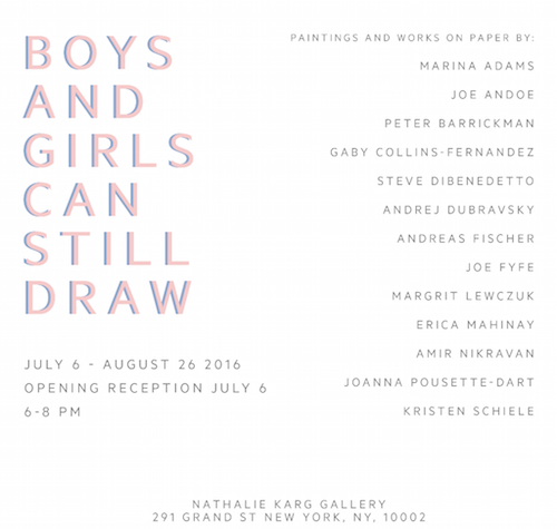 BOYS AND GIRLS CAN STILL DRAW  | Events Calendar