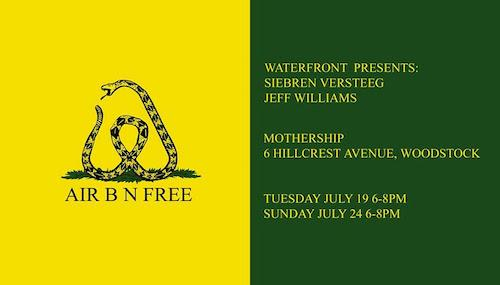 Siebren Versteeg and Jeff Williams 'AIR B N FREE' | Events Calendar