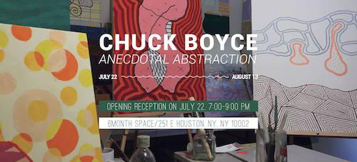 Chuck Boyce 'Anecdotal Abstraction' | Events Calendar