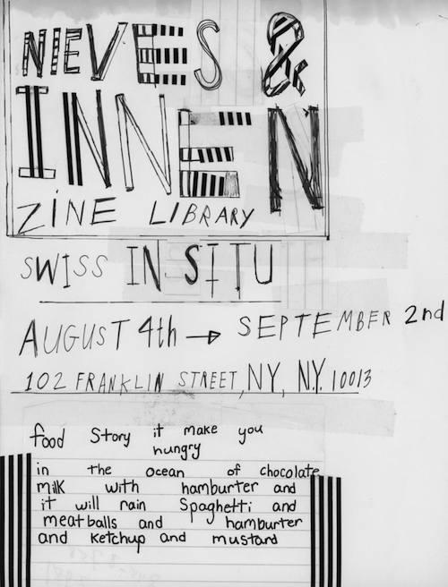 Swiss In situ | Nieves and Innen Zine Library  | Events Calendar