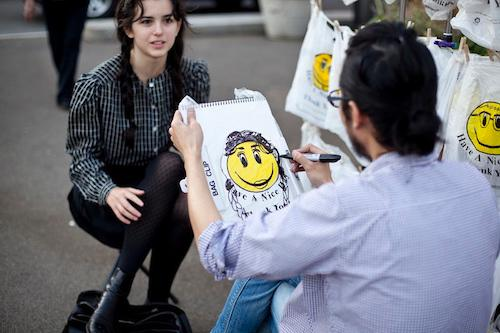 Smiley Bag Portrait By Artist Nobutaka Aozaki  | Events Calendar