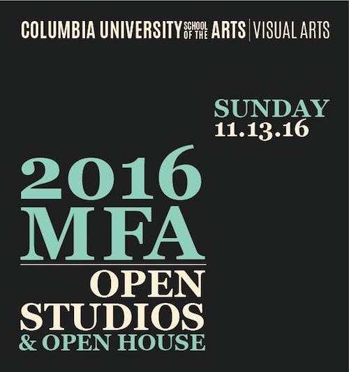 Columbia Visual Arts MFA Open Studios  | Events Calendar