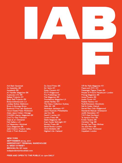 Independent Art Book Fair (IABF)  | Events Calendar