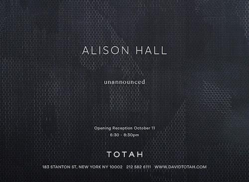 "Allison Hall ""unannounced"" 