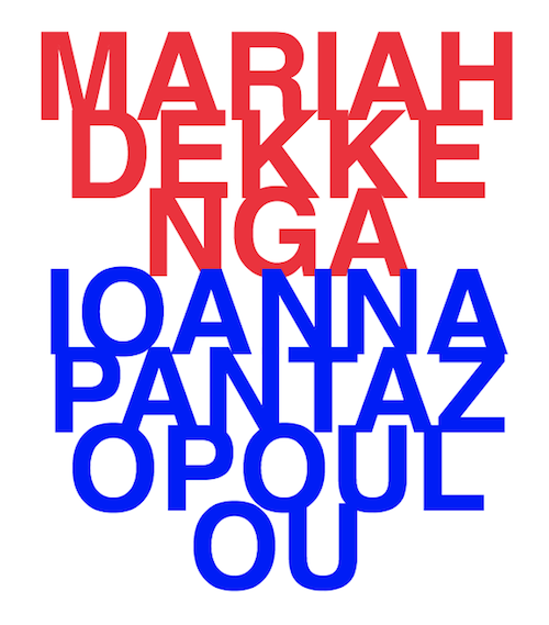 Mariah Dekkenga & Ioanna Pantazopoulou  | Events Calendar