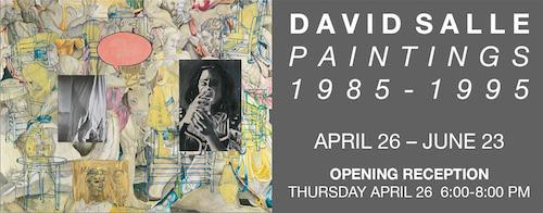 """David Salle: Paintings 1985-1995""  