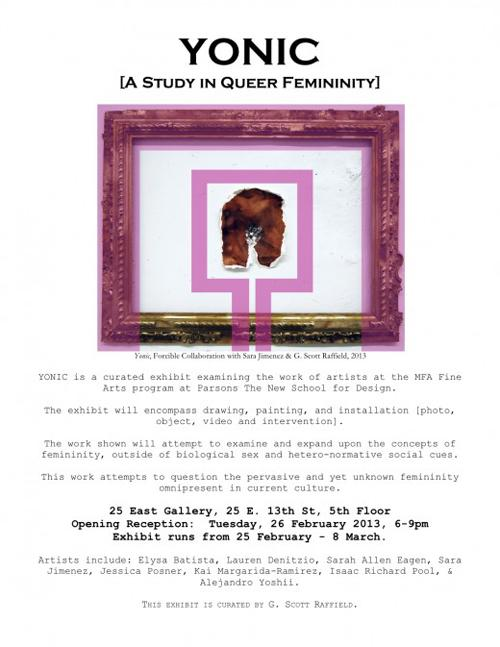 YONIC: A Study in Queer Femininity at 25 East Gallery  | Events Calendar