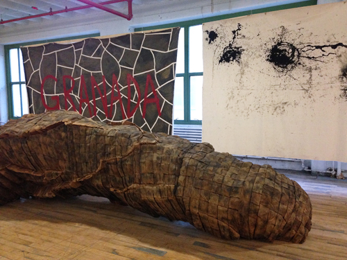 in Pictures for 'Come Together: Surviving Sandy' at Industry City. Image for (L-R) Ursula von Rydingsvard, Vivere Series by Various Artists