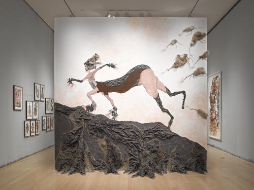 Month In Pictures Wangechi Mutu at Brooklyn Museum. Image for Wangechi Mutu: 'A Fantastic Journey'. Installation View. Courtesy of the Brooklyn Museum