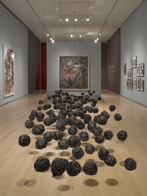 in Pictures for Wangechi Mutu at Brooklyn Museum. Image for Wangechi Mutu: 'A Fantastic Journey'. Installation View. Courtesy of the Brooklyn Museum