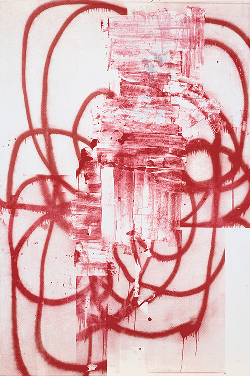 in Pictures for Christopher Wool at Solomon R. Guggenheim Museum. Image for Christopher Wool, Untitled, 2001, Silkscreen ink on linen, 228.6 x 152.4 cm © Christopher Wool