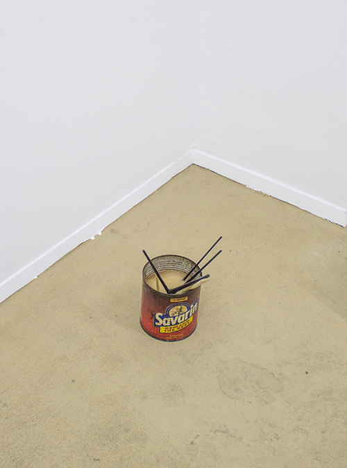 in Pictures for Michael Mahalchick and Jacques Louis Vidal at 247365. Image for Michael Mahalchick, Savarin, 2013, paint brushes, bacon fat, coffee can, 8 x 8 x 12 inches