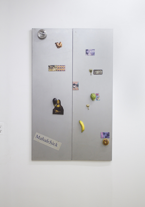 in Pictures for Michael Mahalchick and Jacques Louis Vidal at 247365. Image for Michale Mahalchick, Still Life, 2013, metal shelves, magnets, timer, 28 x 47 inches