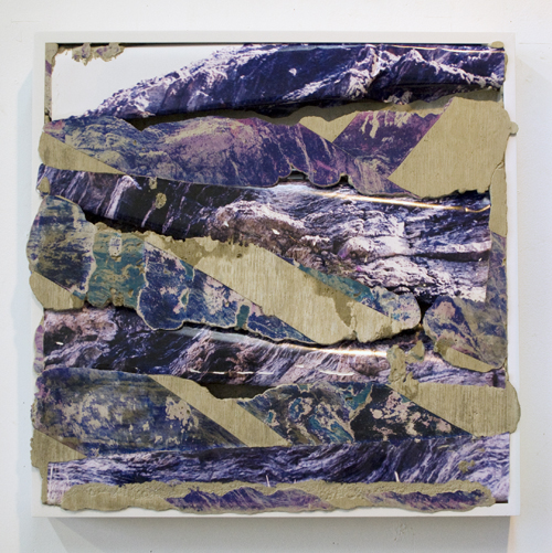 in Pictures for 'What Is a Photograph?' at International Center of Photography. Image for Letha Wilson, Colorado Purple, 2012. Concrete, chromogenic print transfer, and wood frame. Courtesy the artist and Higher Pictures, New York. © Letha Wilson, courtesy Higher Pictures, New York