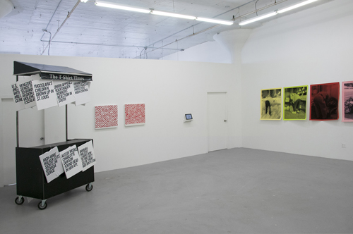 in Pictures for Looking for Work at Regina Rex. Image for Installation of Looking for Work: Dave Stein, Kara Braciale, Aideen Doran, João Enxuto. Image courtesy of Regina Rex.
