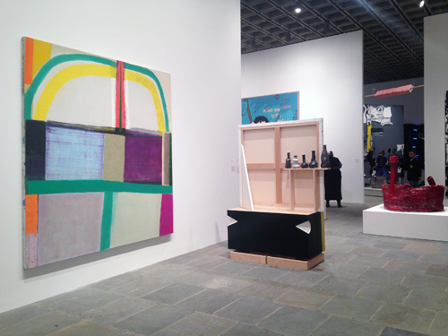 in Pictures for The 2014 Whitney Biennial at Whitney Museum of American Art. Image for (L-R) Amy Sillman and Pam Lins, Sterling Ruby