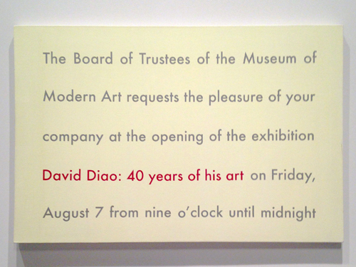 in Pictures for The 2014 Whitney Biennial at Whitney Museum of American Art. Image for David Diao