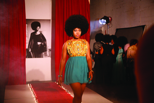 in Pictures for Carrie Mae Weems at Solomon R. Guggenheim Museum. Image for Carrie Mae Weems, Afro-Chic, 2010, Digital color video, with sound, 5 min., 30 sec. Courtesy the artist and Jack Shainman Gallery, New York © Carrie Mae Weems