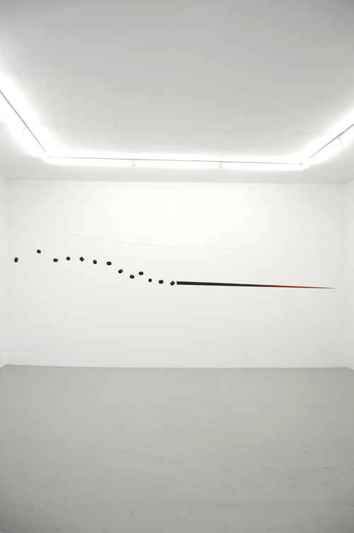 in Pictures for 'Other Primary Structures' at The Jewish Museum. Image for Edward Krasiński (Poland, born 1925, died 2004), Spear, c. 1963-64, Wood and metal wire Approx. 121 1⁄4 in. long (308 cm). Museum of Modern Art, New York © Estate of Edward Krasiński