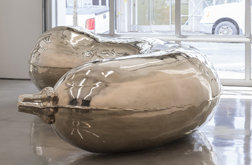 in Pictures for Sarah Lucas at Gladstone Gallery. Image for Sarah Lucas, Florian, 2013, Bronze, 53 x 194 3/4 x 98 1/8 inches (135 x 495 x 250 cm), Photo: David Regen, Copyright Sarah Lucas, Courtesy Gladstone Gallery, New York and Brussels