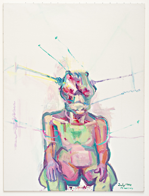 in Pictures for Maria Lassnig at MoMA PS1. Image for Maria Lassnig, Sciencia, 1998, Oil on canvas, 200 x 150 cm. Courtesy the artist.